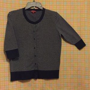 Merona  blouse 3/4 Sleeve Navy & White striped